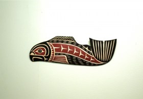 Salmon carving by Harvey John